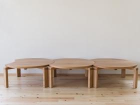 ムーンテーブル3台 水平